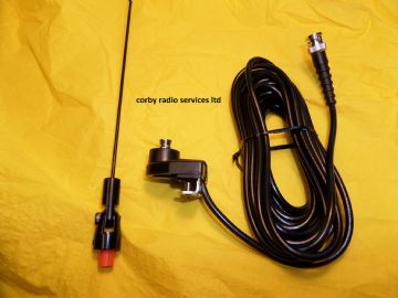 PANORAMA BOOT GUTTER MOUNT MARINE ANTENNA 144 - 162 MHZ COMPLETE CABLE WHIP & CONNECTOR